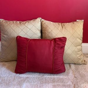 Other - Gold and Red Accent Pillows